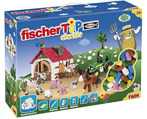 fischerTiP 533878 - Farm Box XL, Kinder-Bastelsets