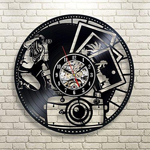 Reloj de pared de vinilo regalo de cumpleaños para fotógrafos