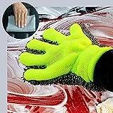 iZoeL Gant de Lavage Auto Gant de Nettoyage Brosses Jantes pour Auto et Moto + Microfibres Carrés