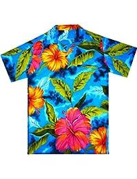 Original King Kameha | Funky Camisa Hawaiana Señores | XS - 6XL | Manga Corta | Bolsillo Delantero | impresión De Hawaii| BigFlower |diferentes colores