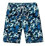 TailorPal Love - Bañador Camuflaje Estampado con Cierre Verano Ocio Playa Vacaciones para Hombre - Azul EU XL