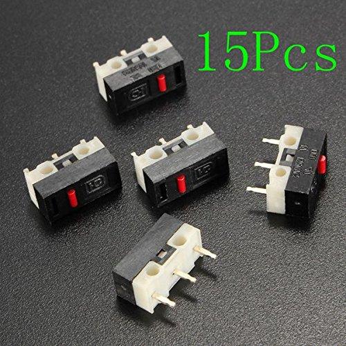LaDicha 15Pcs Kein Griff Ultra Mini Mikroschalter Spdt Sub Miniatur Mikroschalter -