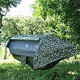 JLJ Outdoor Camping Hängematte Mit Moskitonetz Tragbare Integrierte Hängezelte Im Freien Mosquito Ground Camping Tree (Color : ArmyGreen, Size : 270cm×140cm)