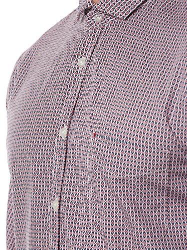 BOSS ORANGE Cattitude Hemd Weiß/Rot