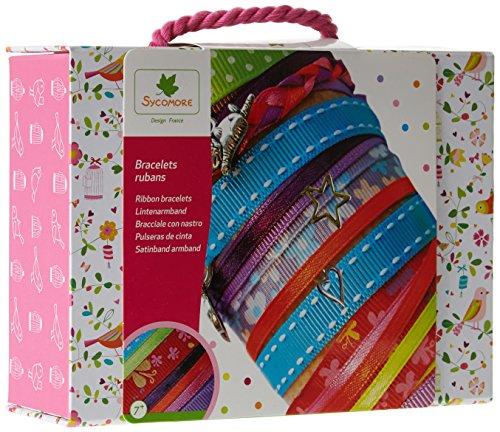 Sycomore CRE1050 - Loisirs Créatifs - Valisette Bracelets Rubans - 6 Breloques