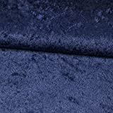 Pannesamt Stoff Uni dunkelblau Meterware - Preis Gilt für