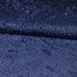 Pannesamt Stoff Uni dunkelblau einfarbig Karnevalskostüme