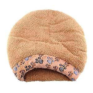 pecute chat chien cave sac de couchage doux chaud peluche pourte pour chaton chiot dormir maison. Black Bedroom Furniture Sets. Home Design Ideas