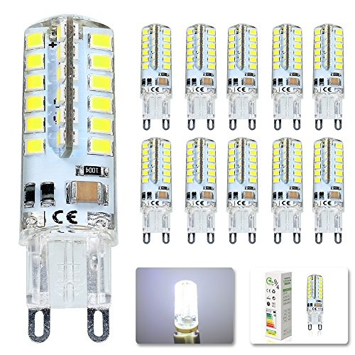Mengjay® G9 3.5W LED lampadina, AC220-240V, 48x SMD 2835 set di chip, 300-320 lumen super luminoso con angolo di 360 ° (10 pezzi, bianco freddo) - 360 Pezzi Set