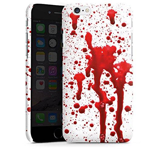 Apple iPhone X Silikon Hülle Case Schutzhülle Blut Halloween Gothic Premium Case matt