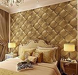 hzf/Außenhandel - - - schwarz Kunstleder Korn PVC-Wallpaper 3D Stereo soft Front Bed hotel Tapeten Großhandel, Bronze Tapeten