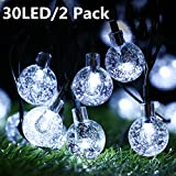 Guirlandes Lumineuses, BrizLabs 2 x 30 LED Guirlande Solaire Exterieure Boules Lampe...