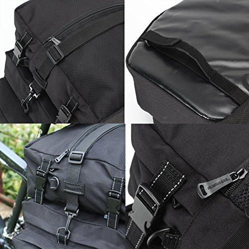 DCCN Fahrrad Rahmentasche Oberrohrtasche Fahrrad Satteltasche Lenker-Tasche fuer Mountainbike 37L Schwarz