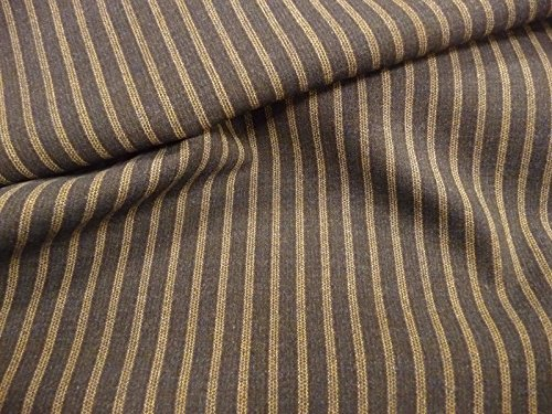 Viskosestoff, Wolle, Elastan, längsgestreift, Italienischer Stoff, (Rock Italienischer Wolle)