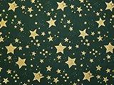 Weihnachten Gold Sterne Print Baumwolle Stoff Flasche