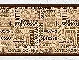 """I-love-Wandtattoo b-10066 Küchenbordüre """"Kaffee Variationen"""" Schriftzüge Bordüre Küche Kaffeemotiv Wanddeko"""