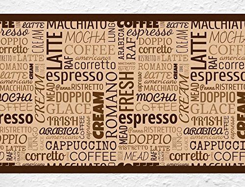 I-love-Wandtattoo b-10066 Bordo decorativo adesivo da parete, motivo variazioni di caffè,Lettering confine Cucina Macchina Scene Wanddek, 5m