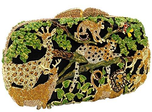 Partito Pochette Donna Sera Borsetta Portafoglio Cerimonia Borsa Sposa Spalla Frizioni Eleganti Verde Green