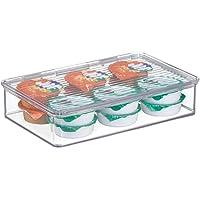 mDesign bac alimentaire – organiseur de frigo en plastique pour canettes, conserves, etc. – rangement de cuisine pour…