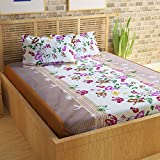 Story@Home Cotton Floral 120 TC 100% Cotton Double Bedsheet With 2 Pillow Covers , Multicolor