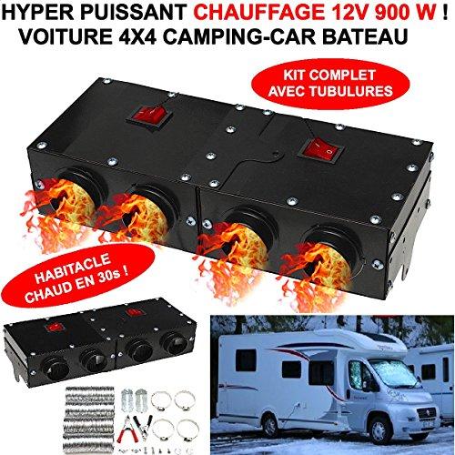 LE CLUB MECANIQUE LE CHAUFFAGE 12V LE PLUS PUISSANT ! 900W AVEC 4 SOUFFLANTES ! CHAUFFE EN 30S L'HABITACLE ! GENIAL ! PAS BESOIN DE LAISSER TOURNER LE MOTEUR POUR AVOIR CHAUD ! CAMPING CAR VTC