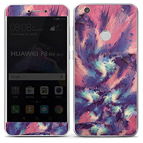 DeinDesign Huawei P8 Lite 2017 Folie Skin Sticker aus Vinyl-Folie Aufkleber Farben Pattern Muster