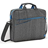 "deleyCON MKB-103-1 15.6"" Briefcase Blue,Grey notebook case - Notebook Cases (Briefcase, 39.6 cm (15.6""), Shoulder strap, Blue, Grey)"