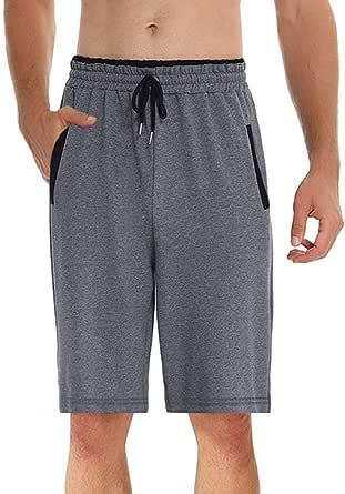 ihot Men's Pyjama Bottoms Soft Comfy Lounge Shorts Nightwear Loungewear PJs with Elasticated Waist
