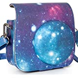 CAIUL Galaxie Ciel Etoilé Cuir PU Housse Etui pour Fujifilm Instax Mini 8 8+ 9 Appareil Photo