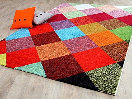 Funky Designer Teppich Karo Bunt in 4 Größen - Funky Designer