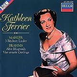 Mahler: 3 Rückert Lieder/ Brahms: Alto Rhapsody/4 Ernste Gesänge, etc.