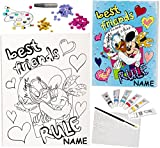 alles-meine.de GmbH Bastelset Zum Malen - Leinwand / Canvas Bild -  Disney Minnie Mouse & Daisy ..