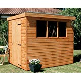 6x4' Pent Garden Shed - Heavy Duty Tongue & Groove Wood