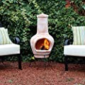 Kingfisher 105cm Large Terracotta Wood Burning Chiminea Outdoor Garden Furniture from Bonningtons