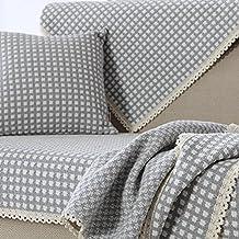 Copridivano in cotone,Lino a righe multiuso antiscivolo sofa slipcovers stile nordico decorativi mobili protector componibile-D 70x240cm(28x94inch)