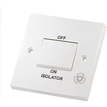 Knightsbridge Flat Plate 10A 10 Amp 3P 3 Pole 1 Gang 1G Fan Isolator Switch