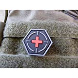 Jackets To Go JTG Tactical Medic Red Cross, Hexagon Patch, blackmedic/JTG 3D Rubber Patch, HexPatch