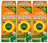 3 x 500 ml Celaflor Rasen-Unkrautfrei Anicon Ultra Unkrautvernichter
