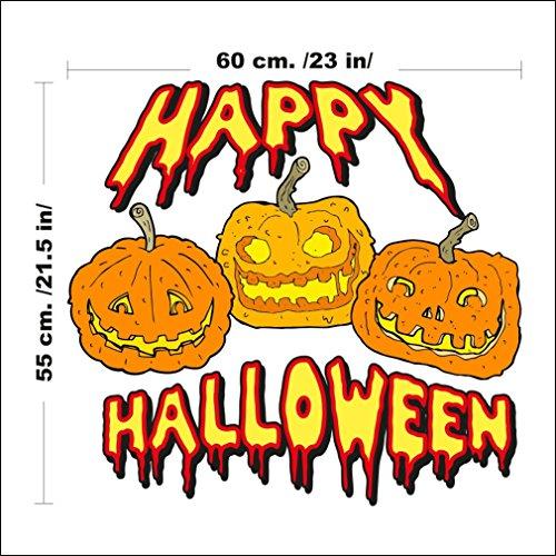1340 Wandaufkleber Happy (Kostüme Figur Halloween Ideen)