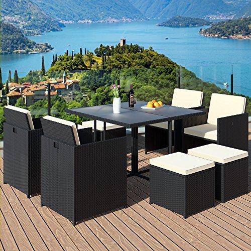 21tlg PolyRattan Sitzgarnitur Gartengarnitur Lounge Gartenset Sitzgruppe Essgruppe Gartenmöbel Rattan - 2