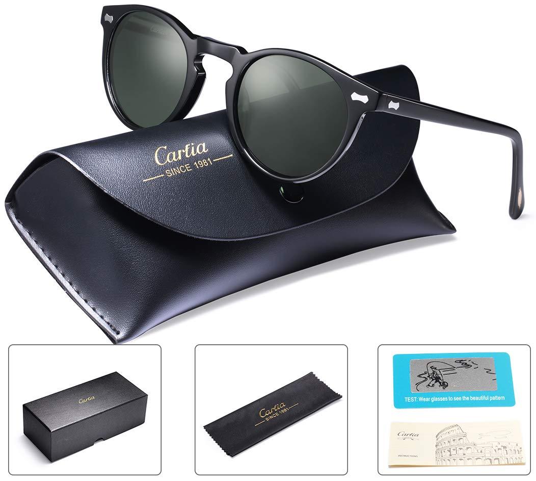 89d31e25b2 Carfia Mens Sunglasses Polarised Vintage Eyewear UV400 Protection for  Driving Travel – Rockhitech