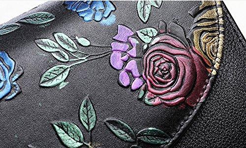Sacchetto di mano, sacchetto di mano delle signore, sacchetto a mano, fascia di grande capacità di cuoio di tendenza della moda, pacchetto di cena di banchetto ( Colore : Blu ) Blu