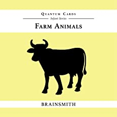 Brainsmith Quantum Cards – Farm Animals - Black and White Cards for Newborns – Newborn Baby - Vision Stimulation - Baby Brain Development - Infant Flashcards – Early Learning – Infant Series - Visual Development – High Contrast Image Cards - Baby Shower Gift (For children from 0 to 6 months - Eyesight Development)