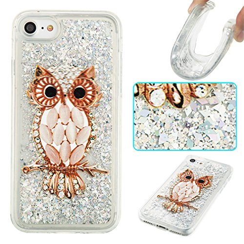 Mk Shop Limited Coque pour iPhone 7, iPhone 7 Gel Transparent Hourglass Sables Mouvants Coque Slim Soft Etui Housse, iPhone 7 Silicone Clear Case TPU Protective Cover, Etui de Protection Cas en caoutc Multi-couleur 8