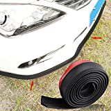 Car Black Front Bumper Rubber Protector Lip Splitter Body Spoiler