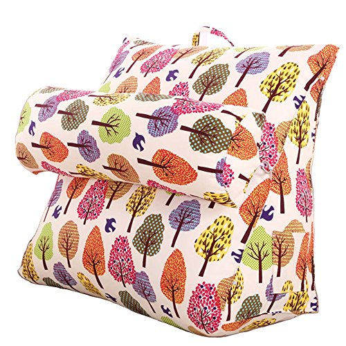 Creative Light-Kissen Dreieckige nachteinstellung kissen / leinwand kissen / sofa kissen bett nackenkissen / büro taille zurück kissen / ( größe : 48*48*18cm ) (Creative Bett Bettdecken)