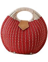 fairysan Mesdames élégant sac à langer Conch forme paille tissé sac à main & Sac de plage en rotin