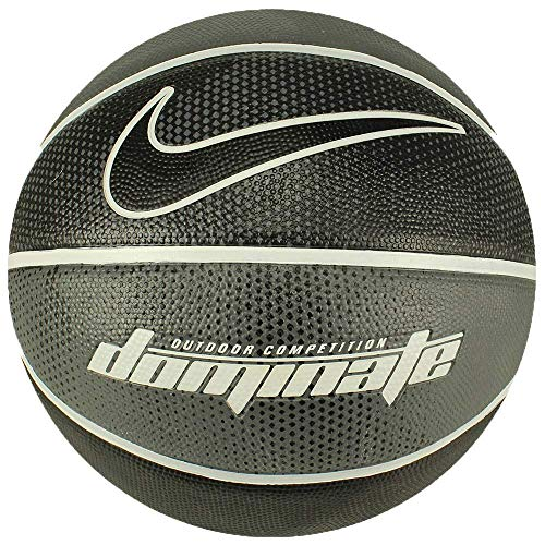 Nike Erwachsene Dominate Baskettball, Dark Grey/White/Black, 7 (Ball Basketball Nike Outdoor)