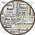 Beistelltisch Couchtisch Nachttisch Nierentisch Coffee Table Tisch Wohnzimmertisch Design Motiv Städte Namen Istanbul Berlin Monaco Rom New York Hong Kong Madrid Paris London Größe 55 cm x 45 cm