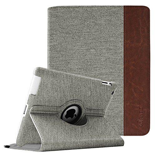 Fintie Hülle für iPad 2 / iPad 3/ iPad 4-360 Grad rotierende Schutzhülle mit Standfunktion Cover Case mit Auto Schlaf/Wach Funktion für Apple iPad 2,iPad 3 & iPad 4th Generation, Denim grau